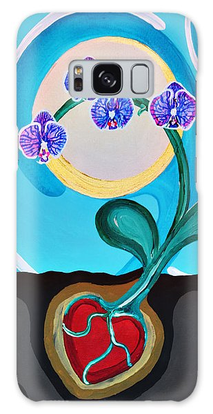 Galaxy Case featuring the painting Orchids For My Love by Aliya Michelle