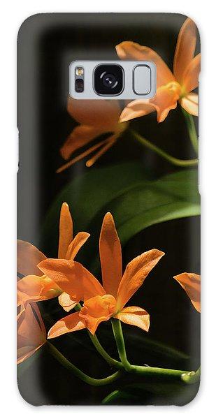 Orchids In Orange Galaxy Case