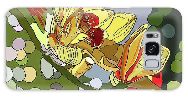 Orchids In Sunlight Galaxy Case