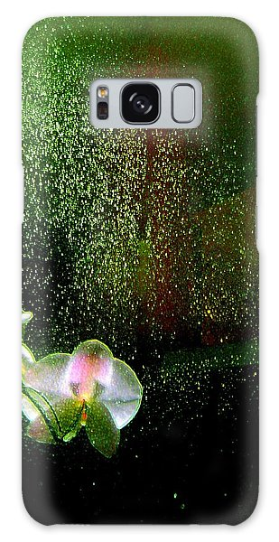 Orchids In The Rain Galaxy Case by Shirley Sirois