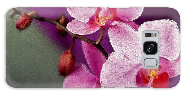 Orchids In Violets Galaxy Case
