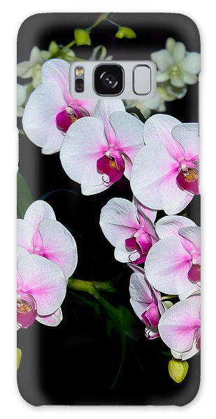 Orchids On Black Galaxy Case
