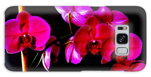 Orchids Galaxy Case by Ron Davidson