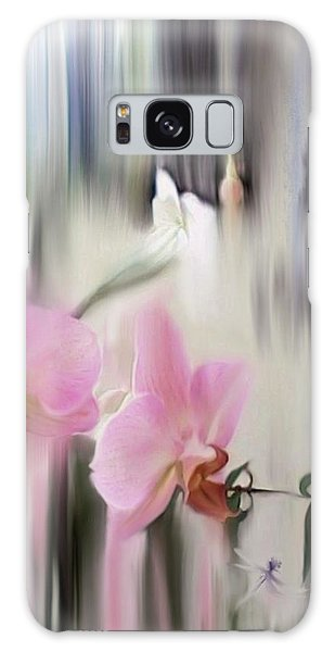 Orchids With Dragonflies Galaxy Case