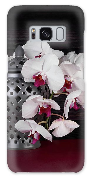 Orchidaceae Galaxy Case - Orchids With Gray Ginger Jar by Tom Mc Nemar