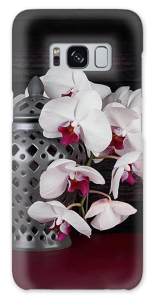 Orchid Galaxy Case - Orchids With Gray Ginger Jar by Tom Mc Nemar