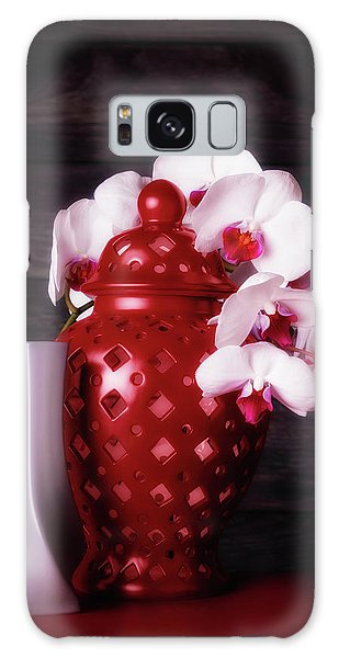 Orchidaceae Galaxy Case - Orchids With Red And Gray by Tom Mc Nemar