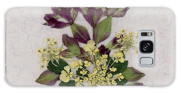 Oregano Florets And Leaves Pressed Flower Design Galaxy Case