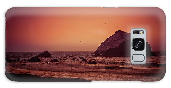 Sea Stacks Galaxy Case - Oregon Beach by Garry Gay