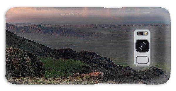 Oregon Canyon Mountain Views Galaxy Case by Leland D Howard