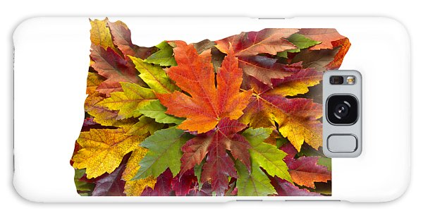 Oregon Maple Leaves Mixed Fall Colors Background Galaxy Case