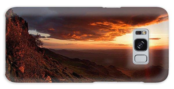 Oregon Mountains Sunrise Galaxy Case by Leland D Howard