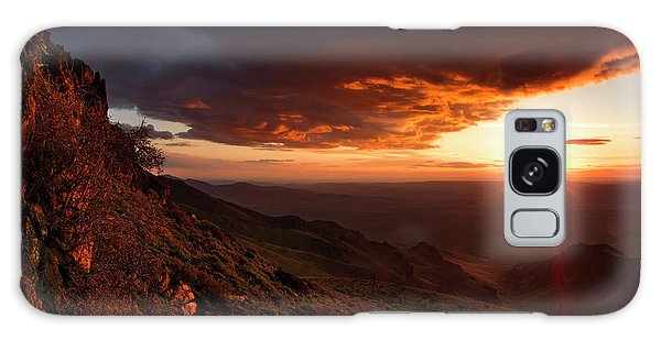 Oregon Mountains Sunrise Galaxy Case by Leland D Howard