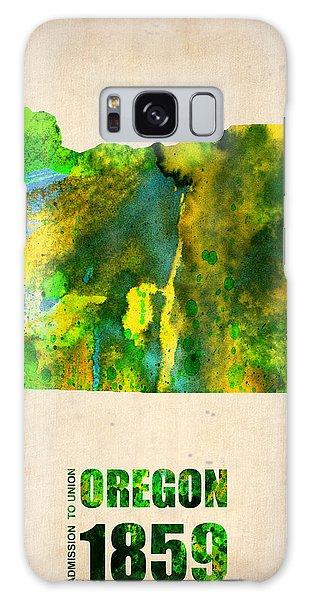 Oregon Watercolor Map Galaxy Case
