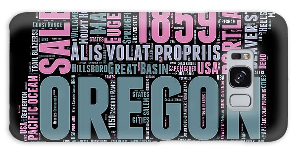 Usa Galaxy Case - Oregon Word Cloud 2 by Naxart Studio