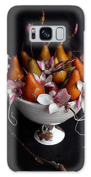 Organic Bosc Pears And Magnolia Blossoms Galaxy Case