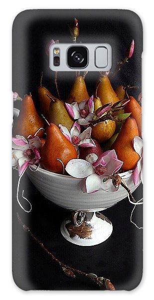 Organic Bosc Pears And Magnolia Blossoms Galaxy Case