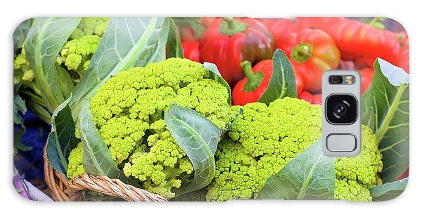 Organic Green Cauliflower At The Farmer's Market Galaxy Case