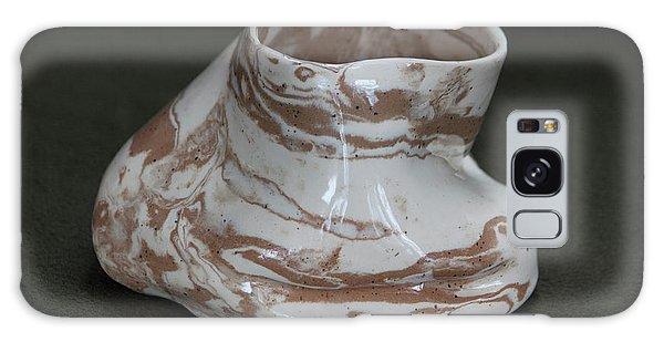 Organic Marbled Clay Ceramic Vessel Galaxy Case by Suzanne Gaff