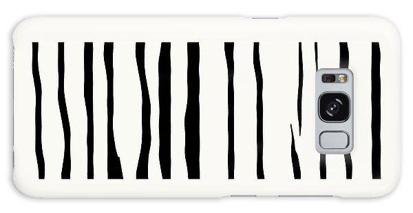 Organic No 12 Black And White Line Abstract Galaxy Case