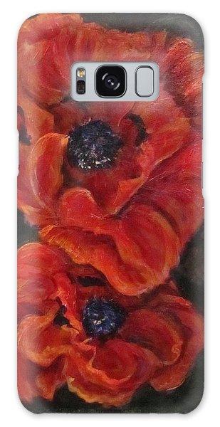 Oriental Poppys  Galaxy Case by Barbara O'Toole