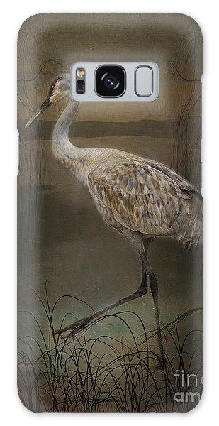 Oriental Sandhill Crane Galaxy Case
