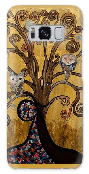 Original Acrylic Artwork By Mimi Stirn - Hoomasters Collection -hooklimt #414 Galaxy Case