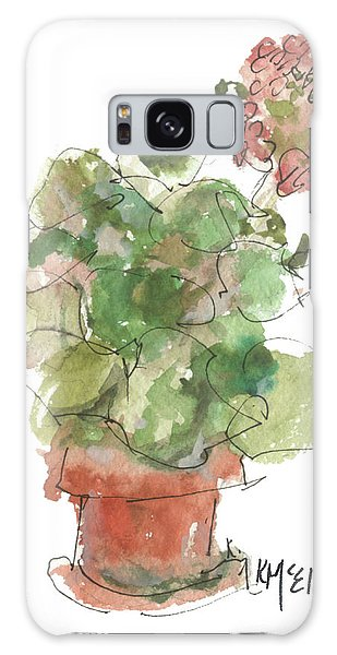 Original Buspaintings Geranium Watercolor Painting By Kathleen Mcelwaine Galaxy Case