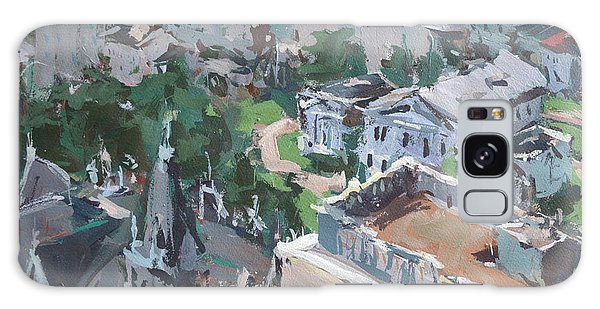 Original Contemporary Cityscape Painting Featuring Virginia State Capitol Building Galaxy Case