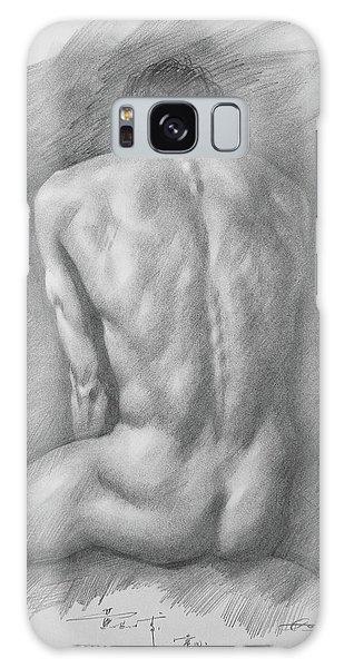 original Drawing male nude man #17325 Galaxy Case