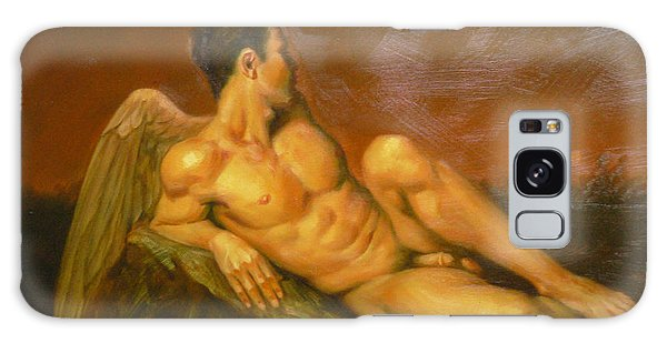 Original Oil Painting Art  Male Nude Of Angel Man On Canvas #11-16-01 Galaxy Case