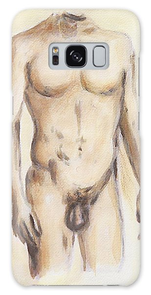 Original Painting Of A Nude Male Torso Galaxy Case
