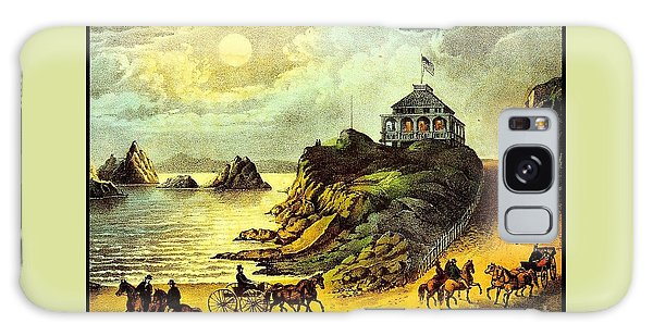 Original San Francisco Cliff House Circa 1865 Galaxy Case by Peter Gumaer Ogden