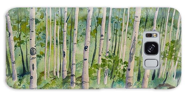 Original Watercolor - Summer Aspen Forest Galaxy Case
