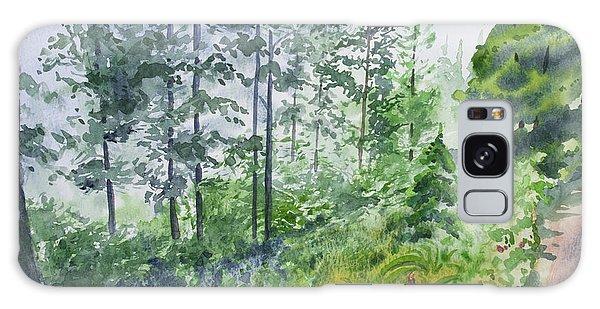 Original Watercolor - Summer Pine Forest Galaxy Case