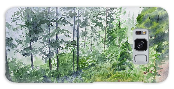 Original Watercolor - Summer Pine Forest Galaxy Case