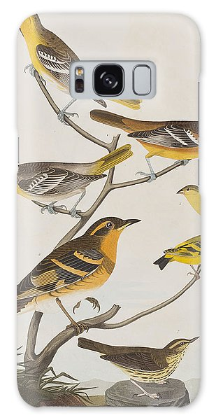 Orioles Thrushes And Goldfinches Galaxy Case