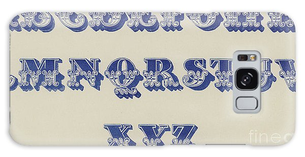 Decorative Galaxy Case - Ornamental Fleur De Lis Font by English School