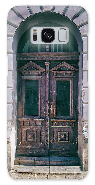 Ornamented Wooden Gate In Violet Tones Galaxy Case by Jaroslaw Blaminsky