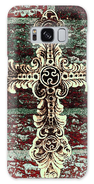 Ornate Cross 1 Galaxy Case by Angelina Vick