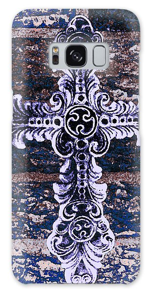 Ornate Cross 2 Galaxy Case