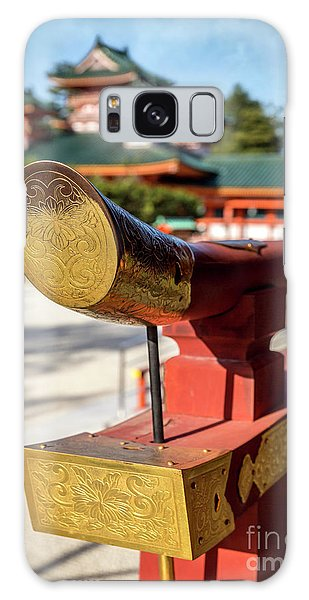 Ornate Details O Heian Jingu Shrine In Kyoto Galaxy Case