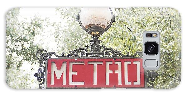 Transportation Galaxy S8 Case - Ornate Paris Metro Sign by Ivy Ho