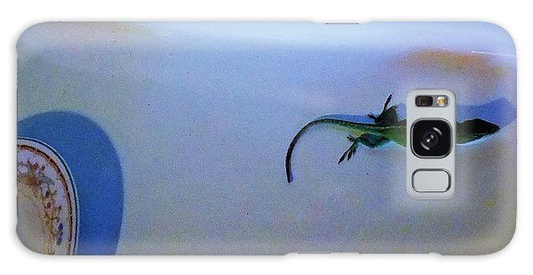 Galaxy Case featuring the photograph Oscar The Lizard by Denise Fulmer