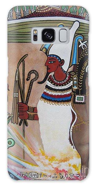 Blaa Kattproduksjoner         Osiris With Goddess Isis And 4 Grandkids Galaxy Case