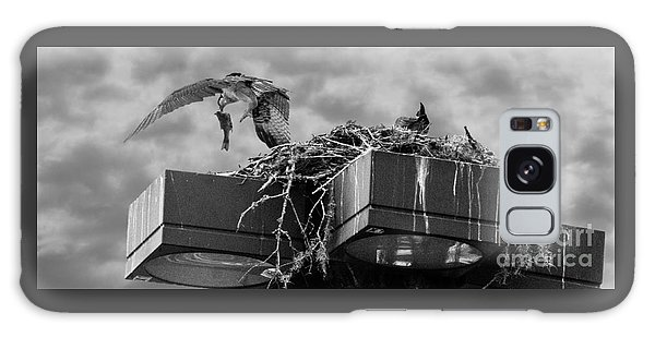 Osprey Carrying Fish To Nest Galaxy Case