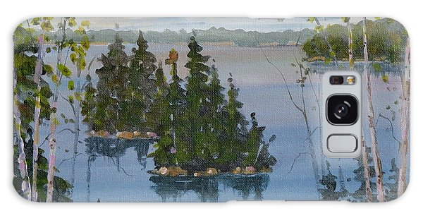 Galaxy Case featuring the painting Osprey Island Study by David Gilmore