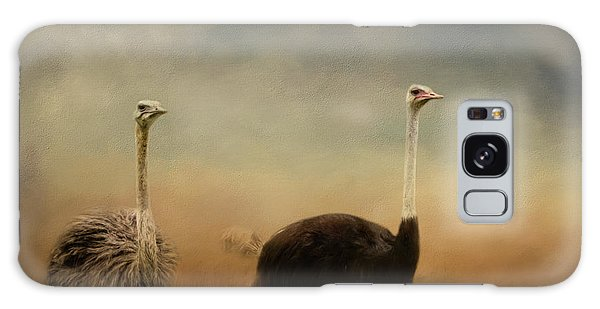 Ostrich Couple Galaxy Case