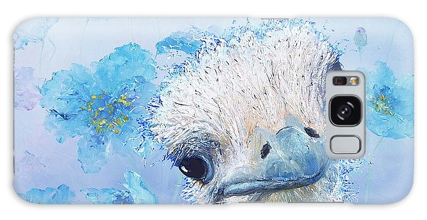 Ostrich In A Field Of Poppies Galaxy Case