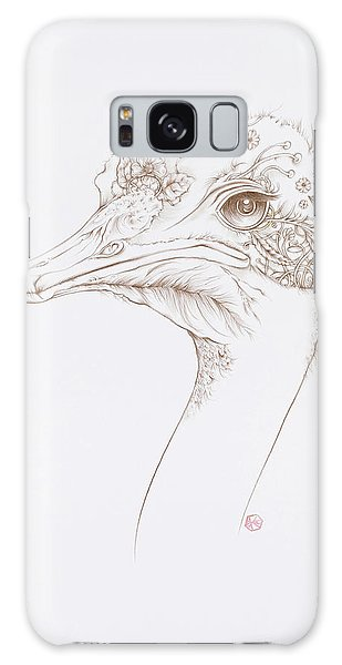 Ostrich Galaxy Case by Karen Robey